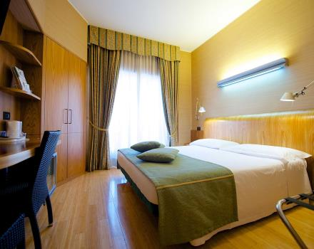 Double classic room of Hotel Luxor in Turin, 3-star hotel