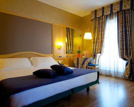 Discover the comfort of the classic double rooms at BW Hotel Luxor 3 star hotel in Turin