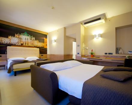 Discover the comfort of our Family Rooms in Turin!