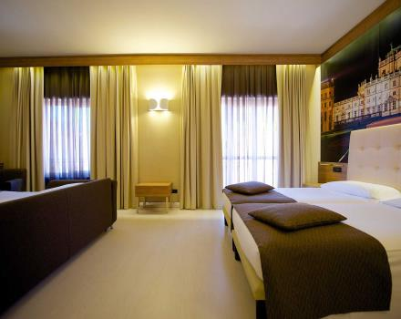 The elegant Family Rooms at the Best Western Hotel Luxor in Torino