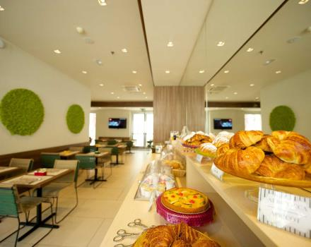 Tasty breakfast buffet in the 3-star Best Western Hotel Luxor, Turin
