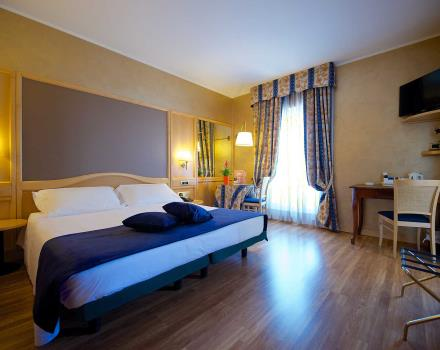 The comfortable classic room of the BW Hotel Luxor 3-star in Turin