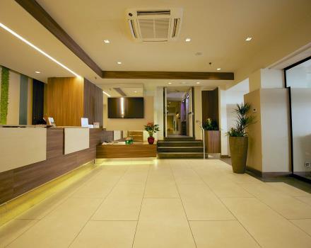 interior design of hotel reception center
