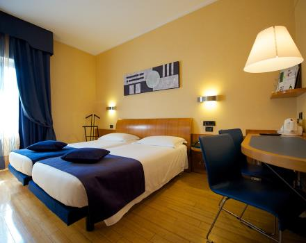 Twin rooms at Best Western Hotel Luxor in Torino