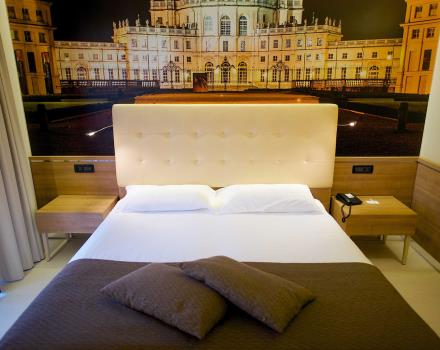 The elegant Junior Suites at the Best Western Hotel Luxor in Torino