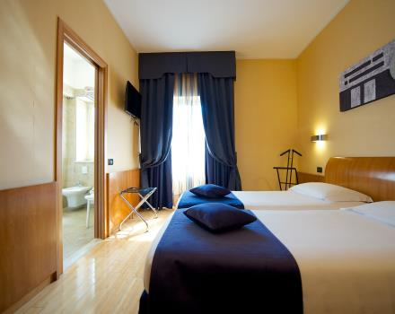 Comfort and functionality in twin rooms of Best Western Hotel Luxor Turin