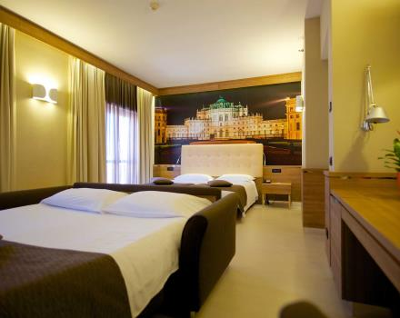 Check out the Family Rooms at the Hotel Luxor, 3 stars in Torino