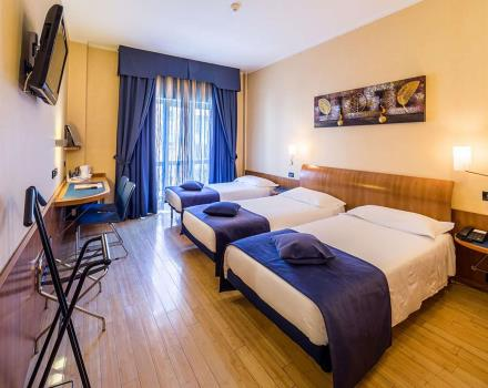 If you are travelling with friends, choose to triple room at the Best Western Hotel Luxor in Torino